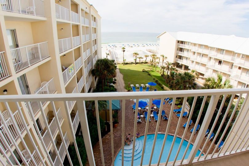 Enjoy a partial view from our Pool View rooms.