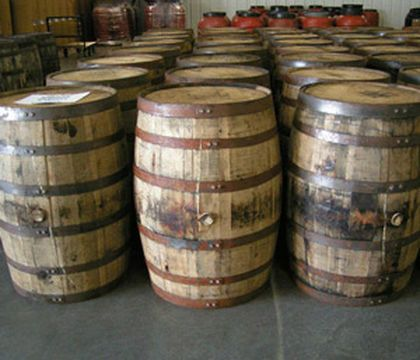 Selection of Whiskey Barrels