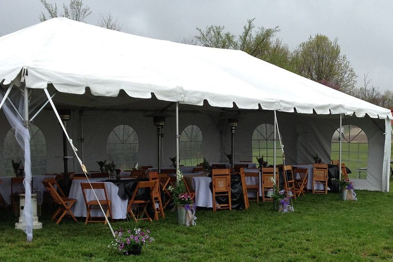 Tent with sides available