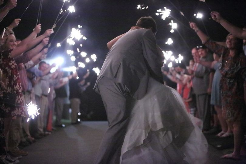 Sparkler sendoff - Happily Ever After at the Barn