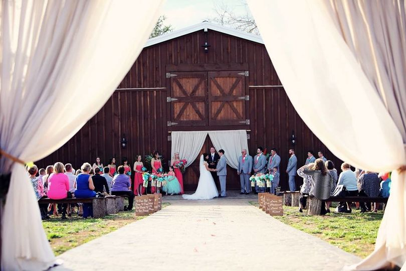 Wedding ceremony - Happily Ever After at the Barn