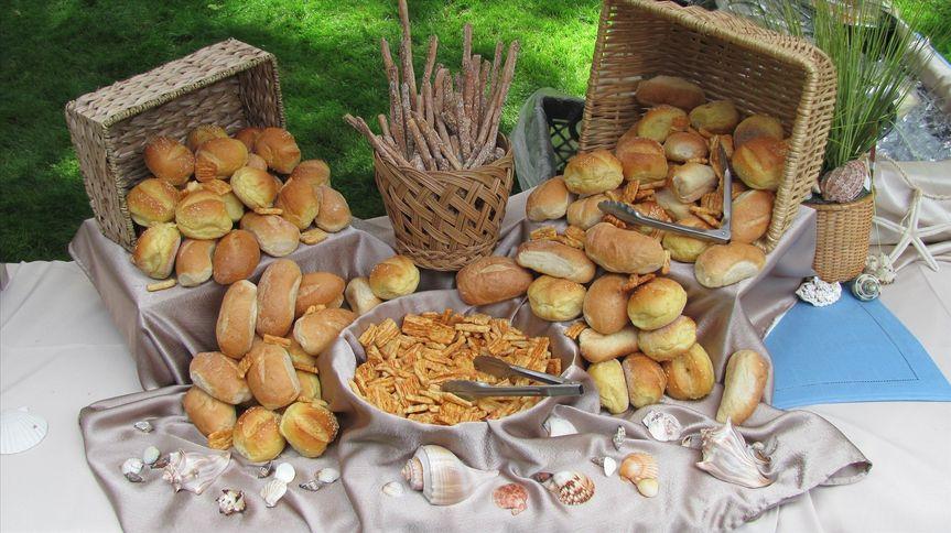 wedding bread setup