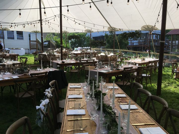 Garden tent reception