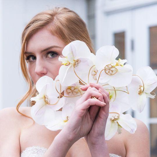 Modern orchid bouquet