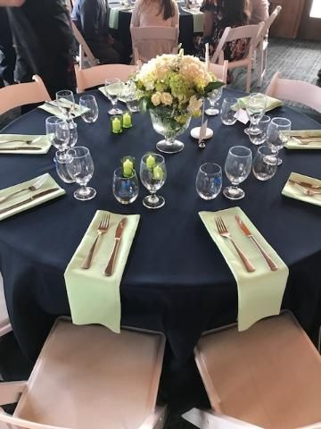 Hand iron table linens