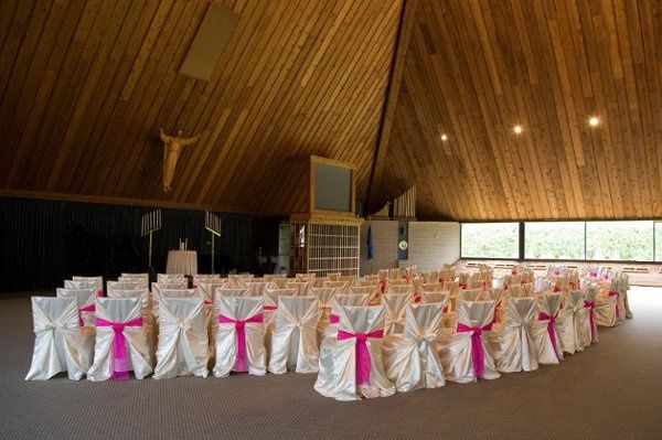 """Our uniquely built """"Pryamid"""" can be used for weddings or receptions and can seat 300 or host 175 at..."""