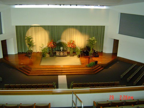 View from the balcony of our new Main Sanctuary--a spectacular setting for a larger wedding or even...