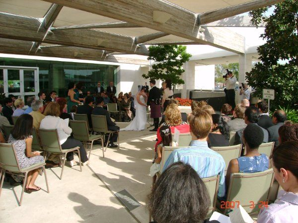 Our courtyard weddings provide a backdrop of waterwalls, airy breezes and beauty...