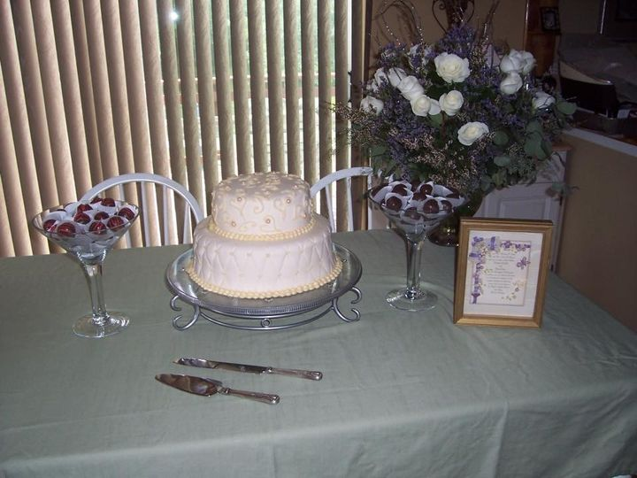 wedding cake and cakeballs