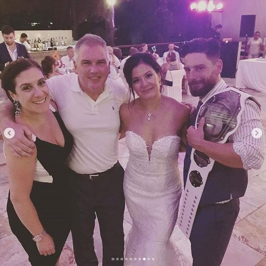 Happy Couple with Guests