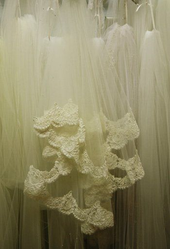 View our custom hand-made lace veils.