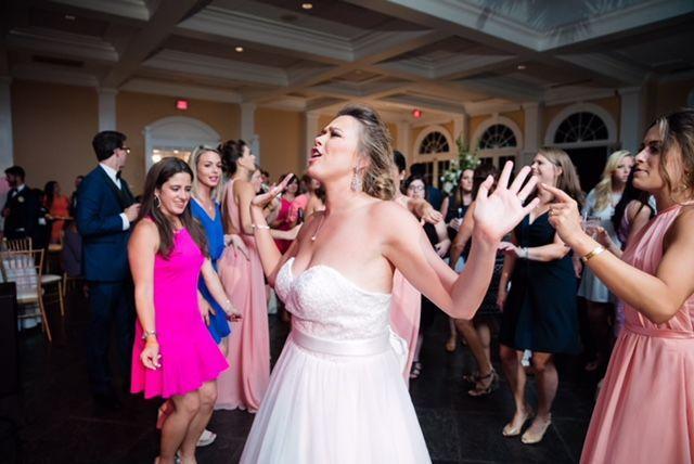 Bride having fun!