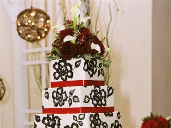 Tmx 1258507258381 Blackandwhiteembroidery Lancaster wedding cake