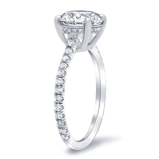 diamond accented diamond engagement ring 174
