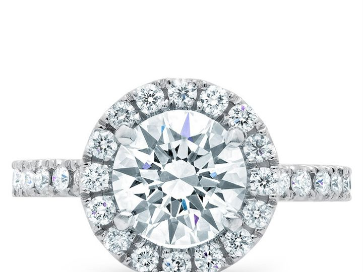 Tmx 1398965124145 Round Halo Engagement Rin Los Angeles wedding jewelry