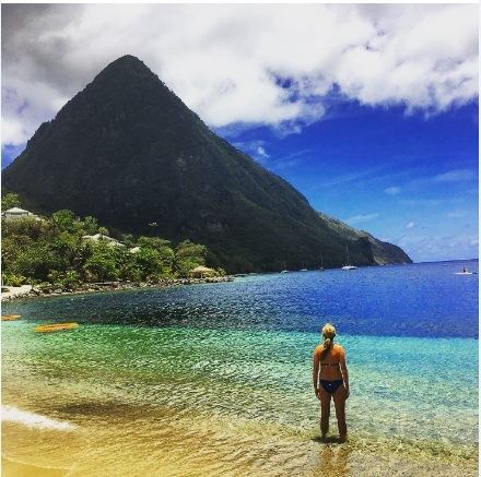 St. Lucia.. They loved it and isn't this just the best picture!!!