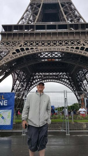 Mike on his honeymoon in Paris.. Dream finally come true they said!