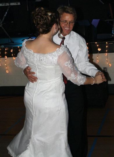 Father and daughter dancing