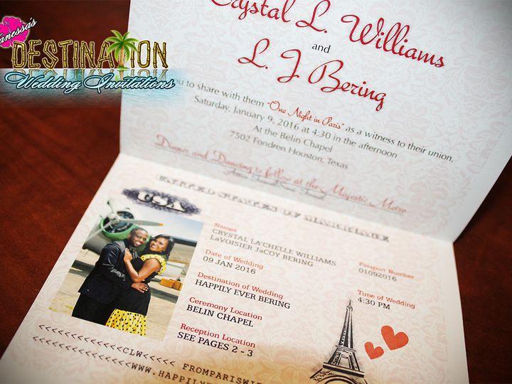 Tmx 1467301276919 Weddingpassportsblackgoldparis2 Lakeville wedding invitation
