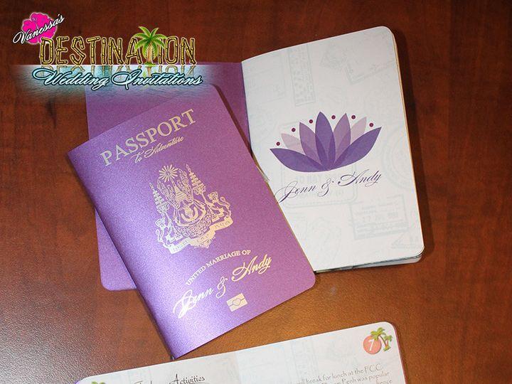 Tmx 1467301294737 Weddingpassportspurpleorchid Lakeville wedding invitation