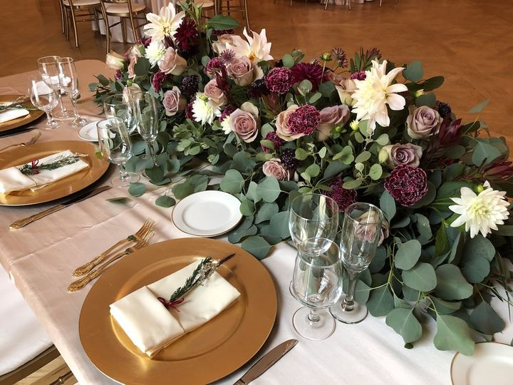 Sweetheart table arrangement