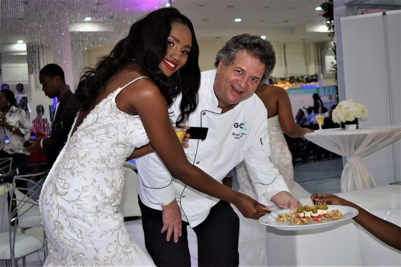 Bride  served by Exec Chef
