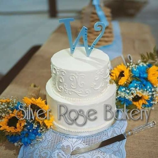 "Silver Rose Bakery ""Simple Elegance"" design"