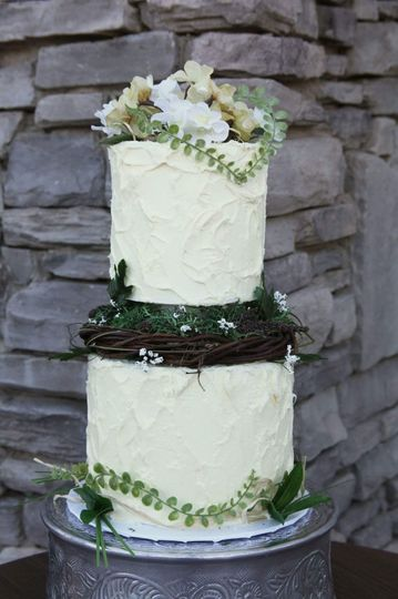Forest cake 2 tier Texture design