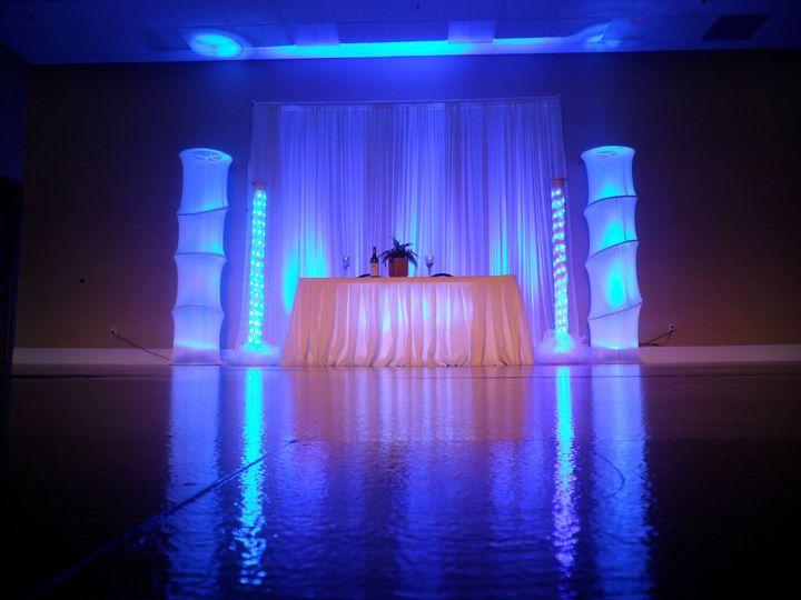 Tmx 1349994959280 BlueLEDBackdropWithLEDPillarPackage Orlando, FL wedding dj