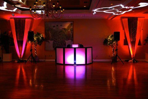 Tmx 1349995293591 TampaWeddingDjSetupWithFacadeAndWeddingLighting Orlando, FL wedding dj