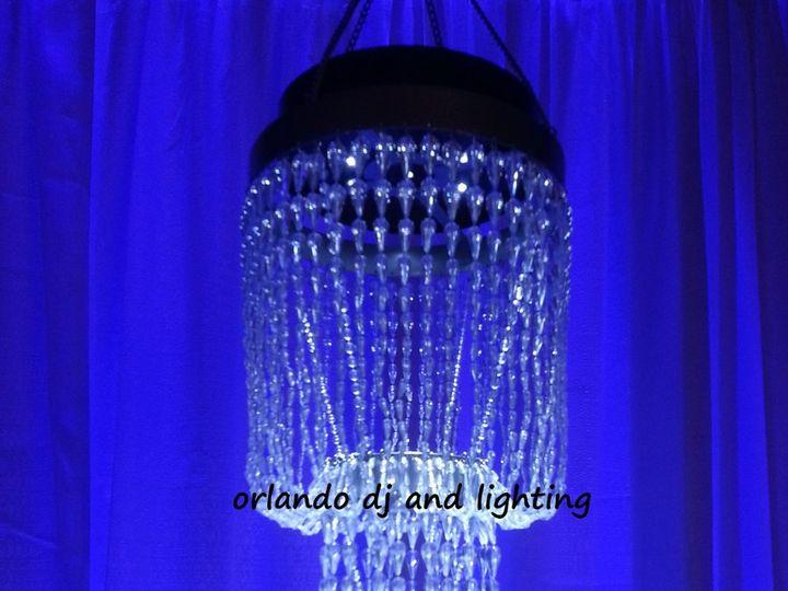 Tmx 1363484144174 Orlandodjandlightingbluelightedchandelierrentalcrystal Orlando, FL wedding dj