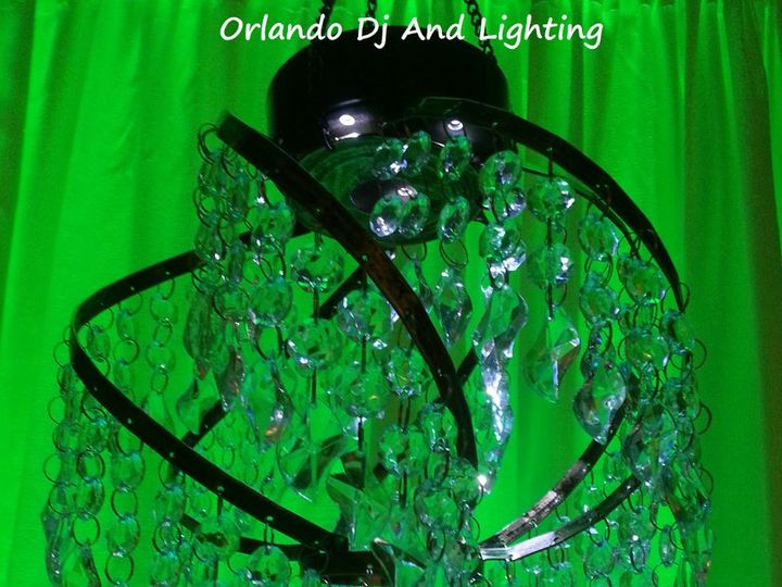 Tmx 1363484202095 Orlandodjandlightinggreenspherechandelierrentalcrystal Orlando, FL wedding dj