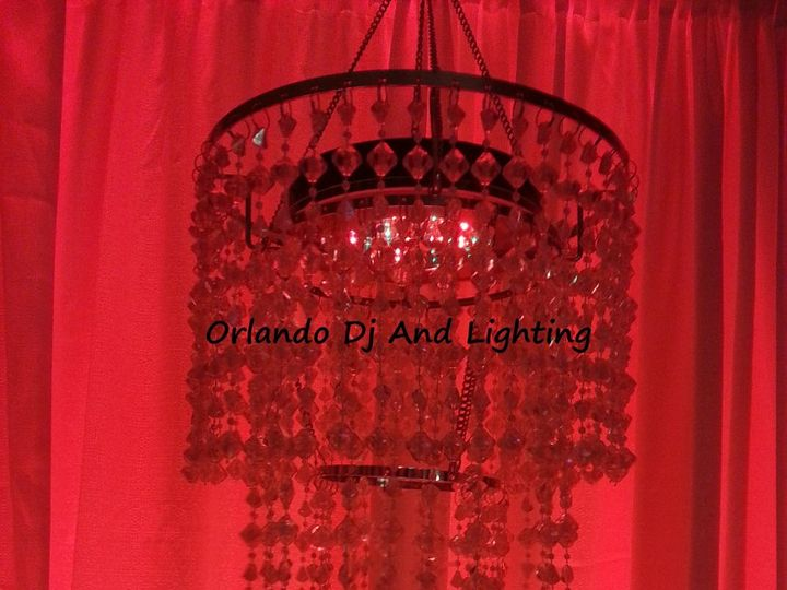 Tmx 1363484357395 Orlandodjandlightingredchandelierrentalcrystal Orlando, FL wedding dj