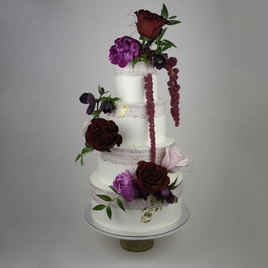 Watercolor 4-Tier with Florals