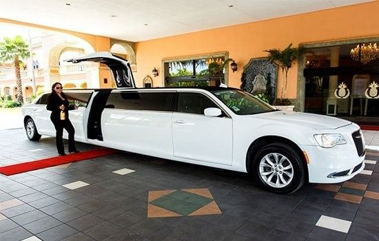 Long white limo
