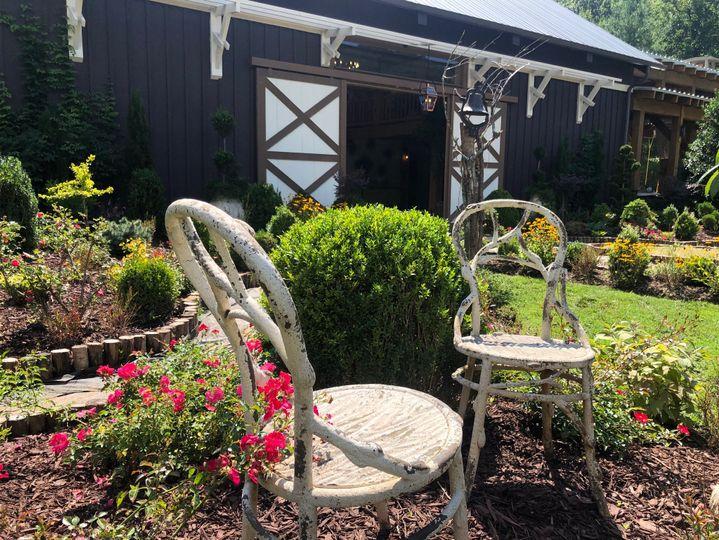 Barn patio landscape