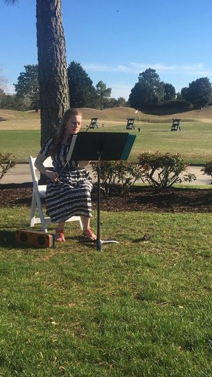 Solo violin wedding at the Princess Anne Country Club