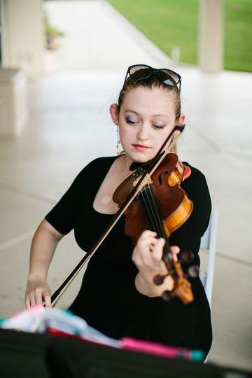 Solo violin wedding at a Virginia Beach country club
