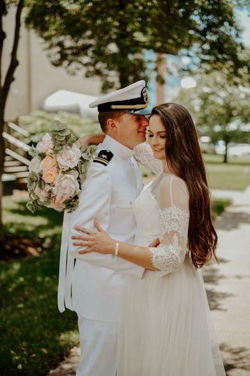 Spring Military Wedding