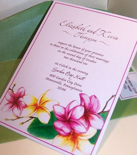 Plumeria Wedding invitations