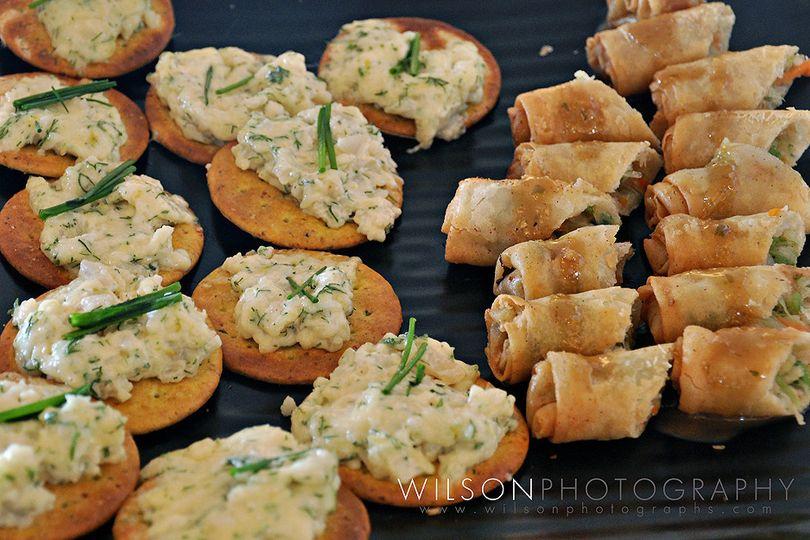 Thai Chicken Salad and spring rolls