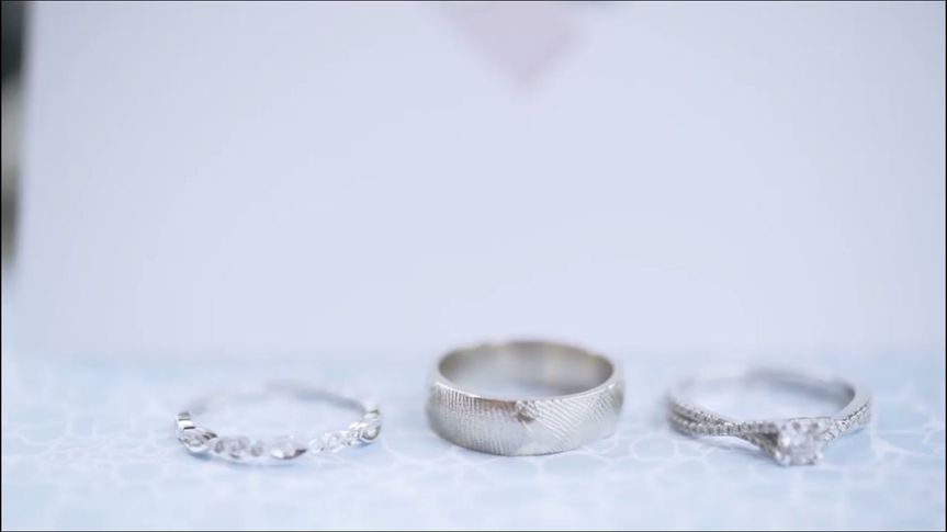 My dear friend's 14kt white gold wedding band cast with the imprint of his lovely bride's...