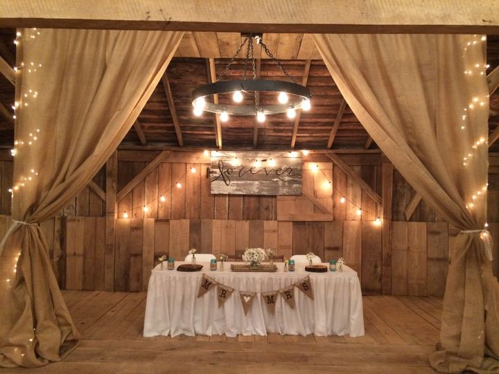 Romantic sweetheart table for the newlyweds
