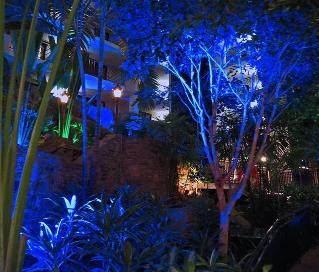 blue uplighting atrium altered