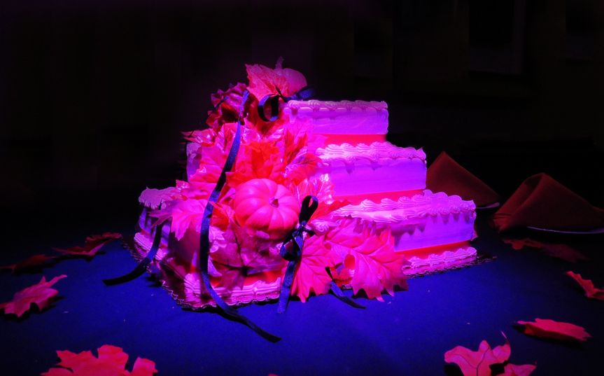 red cake table accent lighting altered