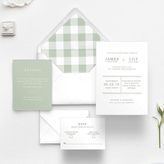 Green Gingham Suite