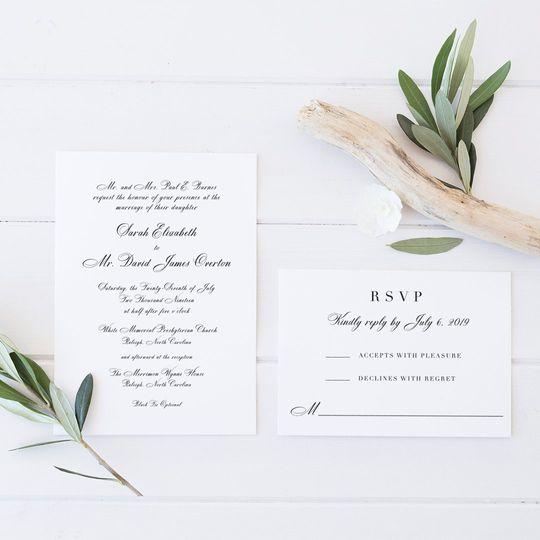 Formal Letterpress Invitation