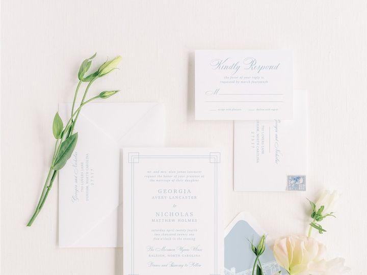 Tmx Thegeorgiafivepiece 51 1066043 159188107520597 Raleigh, NC wedding invitation
