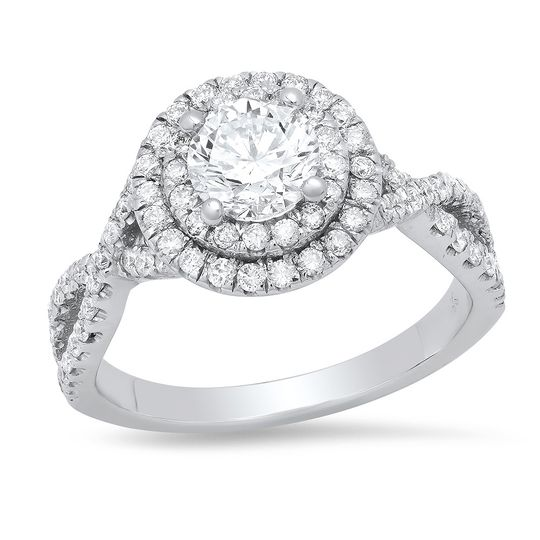 Double halo crossed side ring