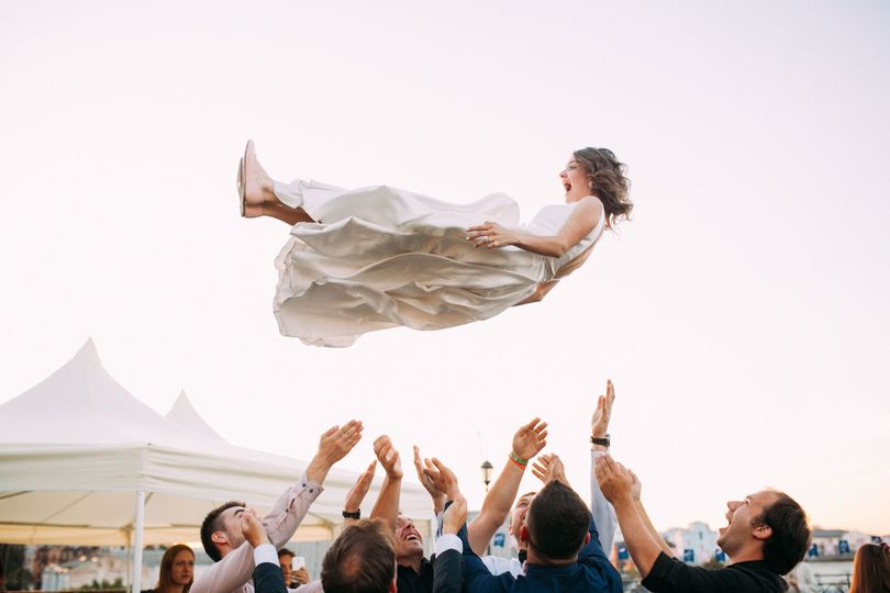 Throwing the bride upside down
